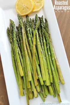 Ten minutes and only 4 ingredients = The Best Roasted Asparagus EVER!!!