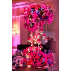 Pink table decor