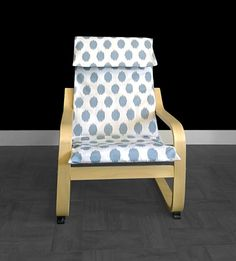 IKEA KIDS POÄNG Cushion Slipcover  Jo Jo Cashmere blue by RockinCushions on Etsy