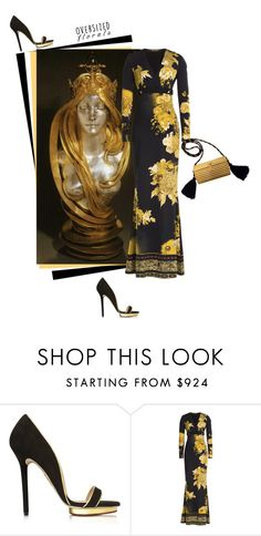"""""""Art-Déco"""" by theitalianglam ❤ liked on Polyvore featuring Charlotte Olympia, Roberto Cavalli, Yves Saint Laurent, yvessaintlaurent, robertocavalli and oversizedflorals"""