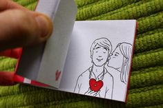 Incredible hand-drawn custom animated flipbooks.  Tell me your story..I turn it into a cartoon flipbook. It's a super special and one of a kind gift perfect for weddings, birthdays, anniversaries, or any special occasion.  You know you have to give a paper gift on that one year anniversary...why not make it a flipbook story of your relationship!