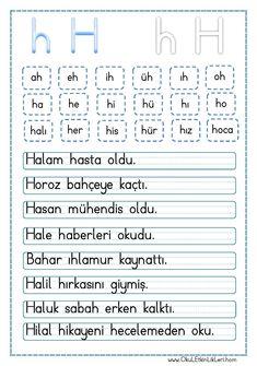 """"""" h """" Sesi Hece ve Cümle Okuma Metni pdf formatında özgün bir çalışma olarak hazırlanmıştır. Aşağıda bulunan linkten kolayca indirebilirsiniz. Tüm çalışmalarımızı kendi emeklerimizle.."""