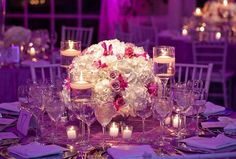 gorgeous wedding receptions | gorgeous white reception centerpieces share