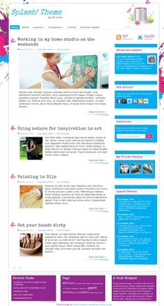 colorful blog style premium WordPress child theme