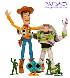 Revoltech Toy Story Buzz Lightyear and Woody.