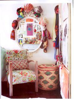 Love the mirror! cute older girls room (Vogue Living Oct 11)