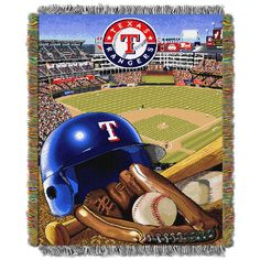 """Rangers OFFICIAL Major League Baseball, """"Home Field Advantage"""" 48""""x 60"""" Woven Tapestry Throw by The Northwest Company"""