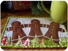 cute gingerbread mug rug