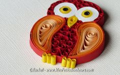 quilling chouette détail pattes Origami And Quilling, Paper Quilling Designs, Quilling Craft, Quilling Patterns, Quilling Ideas, Pippa Pig, Quilling Flowers Tutorial, Paper Art, Paper Crafts