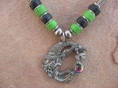 Black Leather Necklace Pewter Wizard with a by buffalorunjewelry, $11.95