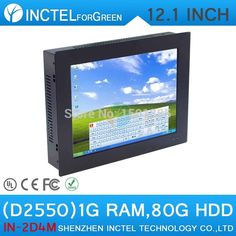 Atom D2550 Processor 2mm LED Embeded Windows 8 Touch Screen Desktop Panel PC with 1G RAM 80G HDD
