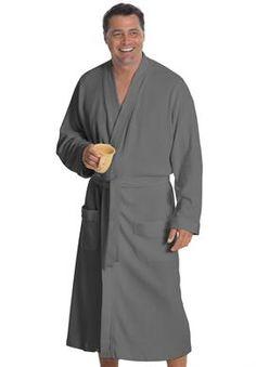 Mens black silk kimono robe