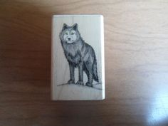 """vintage rubber stamp """" Lone Wolf """" Hero Arts  #HeroArts"""