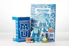 Geekstra.com'dan MOMOT Disney Paper Toyz! Monsters University - Sulley