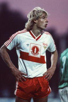 A young Jürgen Klinsmann at VfB Stuttgart.