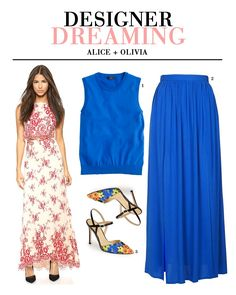 playing the imitation game with Alice + Olivia | love this cobalt look for a summer wedding
