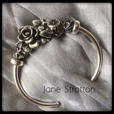 Gorgeous flower cuff bracelet...pinned by ♥ wootandhammy.com, thoughtful jewelry.