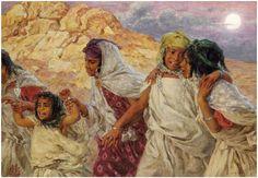 Alphonse Étienne Dinet (1861-1929), Le Départ pour la fête, huile sur toile, 50,5 x 74 cm. Frais compris : 299 400 €. Mardi 4 novembre, Espace Tajan. Tajan SVV. Mme Nataf-Goldmann.