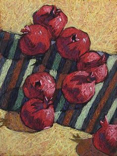 Ideas fruit sketch pencil still life Oil Pastel Paintings, Oil Pastel Drawings, Pastel Art, Oil Pastel Landscape, Oil Pastel Techniques, Fruit Sketch, Pomegranate Art, Vegetable Painting, Pastel Crayons