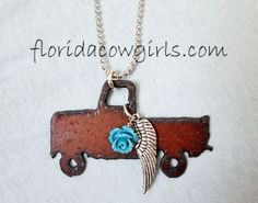 Guardian Angel Pickup Truck Cowgirl Jewelry, Cowgirls love trucks!  Florida Cowgirls $24.98