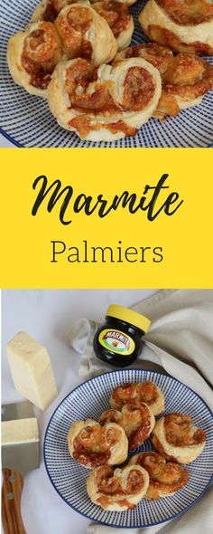 You will either love or hate these Cheese & Marmite Palmiers! Flaky puff pastry with the tasty flavours of cheese and Marmite – I am certainly in the love team! Lunch Box Recipes, Snack Recipes, Healthy Recipes, Fall Recipes, Beef Recipes, Cheese Recipes, Puff Pastry Recipes Savory, Savoury Recipes, Marmite Recipes