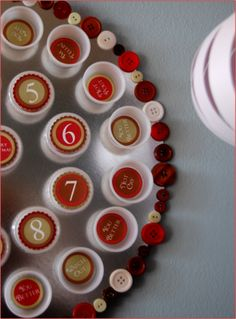 Another Advent Calendar! Using Film Canisters or similar! Fun!! Tutorial
