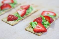 Smashed Avocado and Strawberry Crackers