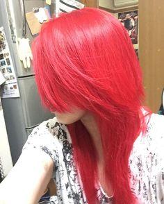 WEBSTA @ reikooon24 - #マニックパニック #ロックンロールレッド #クレオローズ #ヴァンパイアレッド #久しぶりの髪染め #赤髪
