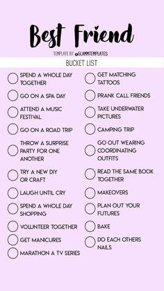 Teen Sleepover, Fun Sleepover Ideas, Sleepover Activities, Sleepover Party Games, Best Friend Dates, Best Friend Quiz, Best Friend Gifts, Best Friend Bucket List, Bucket List For Teens