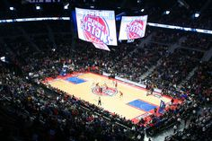 The Palace of Auburn Hills, MI. Many times for basketball games and even a warped tour