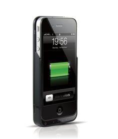 Jaquette Batterie Cuir Slip On iFANS 1450mAh pour iPhone 4/4S (Noir)