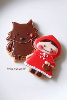 Little Red Riding Hood and the Big Bad Wolf Cookies