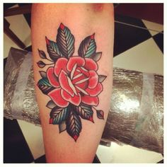 My next tattoo (This made my Valentine's Day perfect. A beautiful traditional rose. | Tattoos Pin)