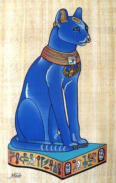 Bastet... Les chats étaient sacrés en Égypte.Comme les autres animaux sacrés d'Egypte, les chats une fois mort étaient momifiés à Bubastis.