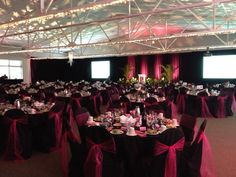 Pink & black looks oh so sophisticated at a recent French-themed event at the Bloomington Convention Center!