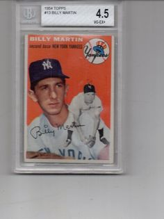 Billy Martin  1954 Topps  13 New York Yankees by AAAVINTAGEFINDS
