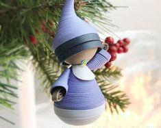 Babys erste Weihnachten Ornament Papier Figur, Baby junge Ornament ...