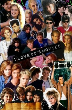 I absolutely love movies 90s Movies, Iconic Movies, Classic Movies, Great Movies, Movie Tv, Movie Collage, Brat Pack, 80s Aesthetic, The Breakfast Club