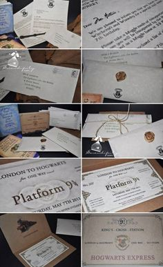 invitation harry potter birthday party