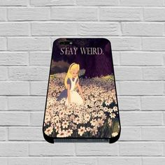 Alice in Wonderland Stay Weird case for iPhone, iPod, Samsung Galaxy, HTC One, Nexus #iphone #iphonecase #case #hardcase #plastic #samsunggalaxycase #gadget #phonecell #celluler