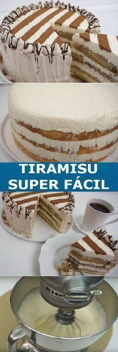 "How to make Tiramisu Super easy ""This is great- Cómo Hacer Tiramisu Super fácil ""Esta es estupenda How to make Tiramisu Super easy ""This is great - Bolo Tiramisu, Food Cakes, Cupcake Cakes, How To Make Tiramisu, Sweet Recipes, Cake Recipes, Homemade Pastries, Occasion Cakes, Köstliche Desserts"