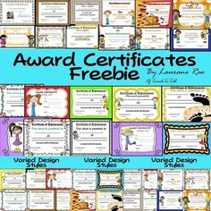 Reward your students with this pack of 25 award certificates featuring cute clip art, meaningful messages and attractive backgrounds.   In this pack, you will find awards for: * Super Writer, Speller * Keen Reader * Perfect Attendance * Math Wizard * Great Helper * Best Effort * Musical Talent * Kind and Caring * Completing Homework  * Research and Presentation * Healthy Lunches * Blank awards for you to fill in.