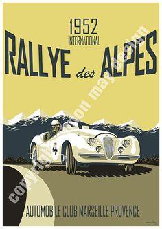 retro car race poster - Google Search
