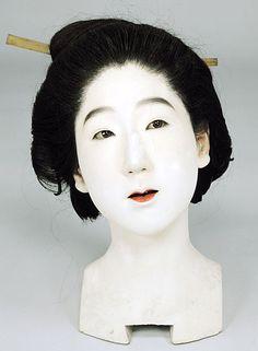 生人形師 安本亀八の人形頭部