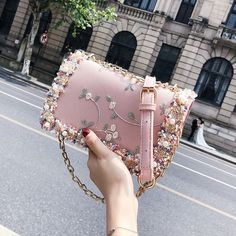 Lace Flowers Women bag 2018 New handbag High quality PU Leather Sweet Girl Square bag Flower Pearl Chain Shoulder Messenger Bag - White Source by CreativeDreamscape Bags 2018 Popular Handbags, New Handbags, Chanel Handbags, Cute Handbags, Cheap Handbags, Purses And Handbags, Leather Handbags, Luxury Handbags, Handbags Online