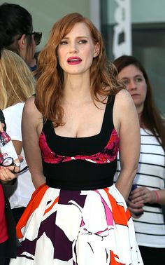 Jessica Chastain attends The Hollywood Walk Of Fame ceremony for Matthew McConaughey on November 17, 2014 in Hollywood, California.