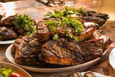 Pork steak barbecue #food #cooking #recipe