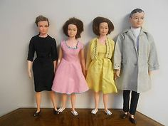 Could pass as Asian! Vintage Remco Littlechap Family Dolls Dr John Lisa 2 Judy's w Orig Clothes 1963 | eBay