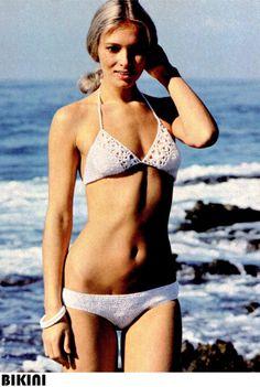 Vintage 70s Crocheted BIKINI PDF Pattern Swim Bathing Suit - PATTERN