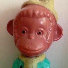 Monkey Piggy Bank, Monkey, Flat, Monkeys, Bass, Money Box, Money Bank, Ballet Flats, Savings Jar